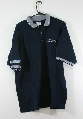 "Royal Caribbean Cruise Casino High Roller Polo Shirt EMBROIDERED "" XL Blue """
