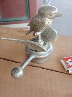 Kookaburra   Car Radiator  Mascot, Brass, Nickle Plated.