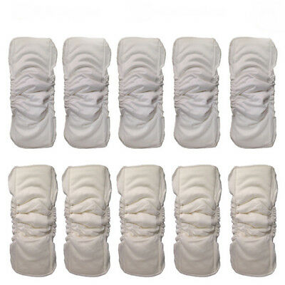 Reusable Baby Diapers Cloth Diaper Inserts 5 Layers Cotton Washable 6A