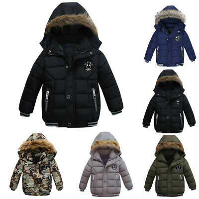 Baby Boys Coat Children Winter Jacket Outwear Kids Jacket Warm Hooded Clothes AI