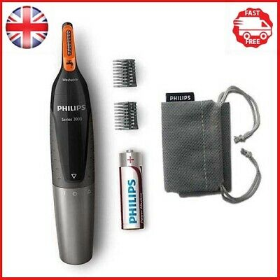 Philips Series 3000 Battery-Operated Nose, Ear & Eyebrow Trimmer - Showerproof &