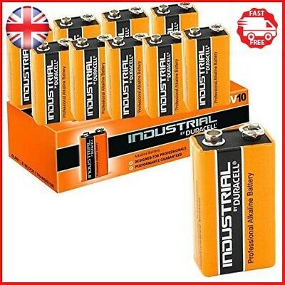 Duracell 9 V 10X Industrial Block Alkaline Battery Orange Pack Of 10 9 Volt