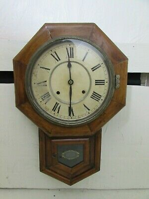 Antique Seikosha Octagonal Drop Dial Wall Clock, Movement Requires Attention