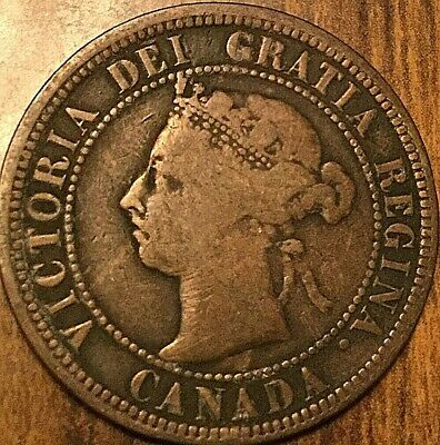 1890 H Canada Large Cent Large 1 Cent Penny