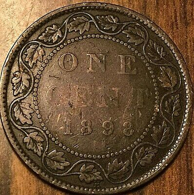1898 H Canada Large Cent Large 1 Cent Penny