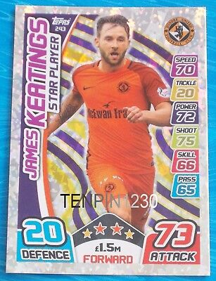 Match Attax Spfl 2017/2018 James Keatings Star Player #243