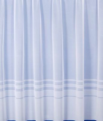 """AZTEC DESIGN WHITE NET CURTAINS ANY SIZE 50/"""" 70/""""  DROP WIDTHS 1-10 METRES"""