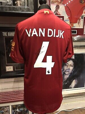 Virgil Van Dijk Authentic Signed Liverpool Shirt 2019/2020 Aftal#198