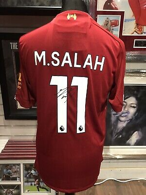 Mohamed Salah Authentic Signed Liverpool Shirt 2019/2020 Aftal#198