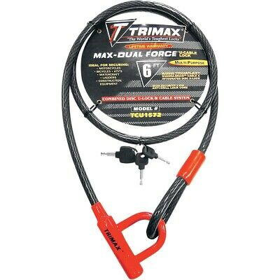 Trimax Trimax Cable & U-Lock Trimaflex Quadra Braid 6'X15Mm