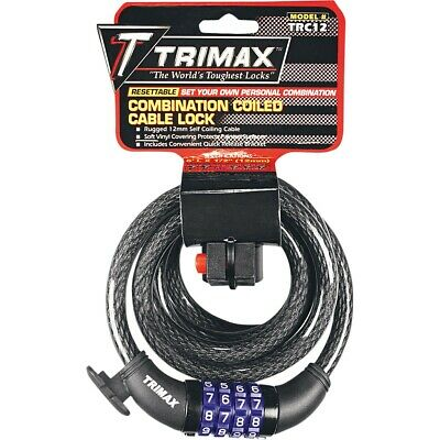 Trimax Trimax Cable-Lock Resettable Combination 12'X6Mm