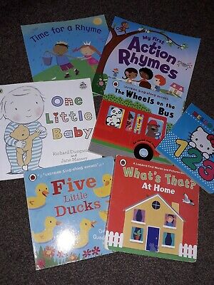 Baby Toddler Book Bundle X7 Nursery Rhymes