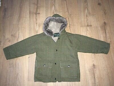 Shire Classics Tweed Boys Girls Unisex Coat Jacket - Size Large ( Age 5-6/7-8)