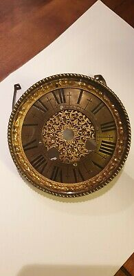 Antique French Clock Dial bezel and glass