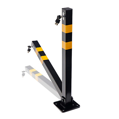 Folding Heavy Duty Parking Post - With Keys And Bolts