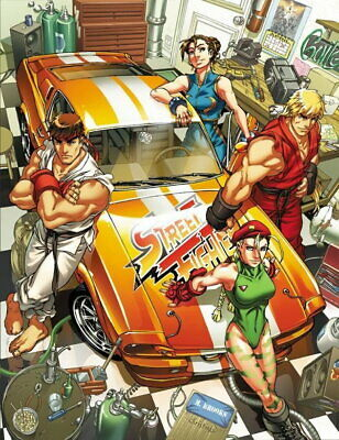 65130 Street Fighter - Fight Ryu Guile Ken ChunLi Game Wall Print POSTER UK