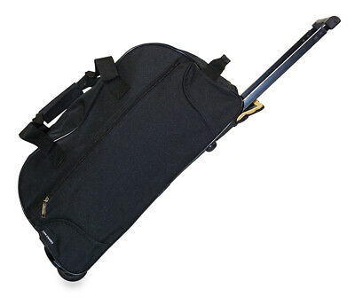 Womens Rolling Wheeled Duffle Bag Duffel Carryon Carry On Travel Black