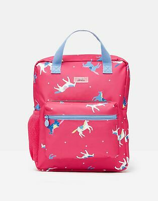 Joules Girls Easton Printed Rucksack - PINK HORSES in One Size