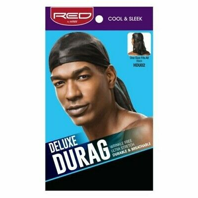 Red By Kiss Cool & Sleek Deluxe Durag One Size #Hdu02 Ultra Stretch Doo Rag