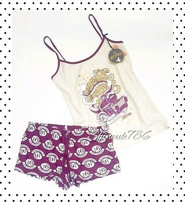 Harry Potter Hogwarts Train Primark ladies Pyjama Set Short cami Vest Pjs BNWT