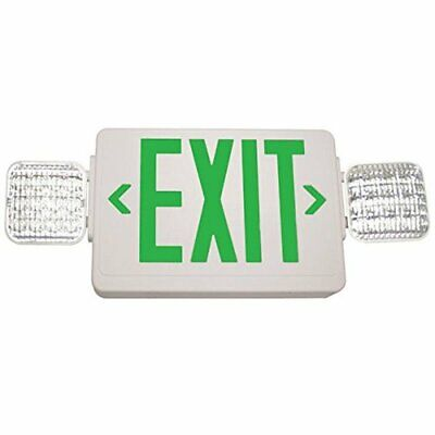 Exitronix Single/Double Face - LED Combo Exit Sign - Self Test Green Letters