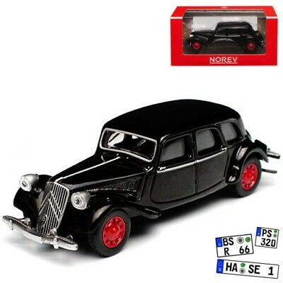CITROEN TRACTION 15 SIX 1939 BLACK GREY NOREV 3 INCHES