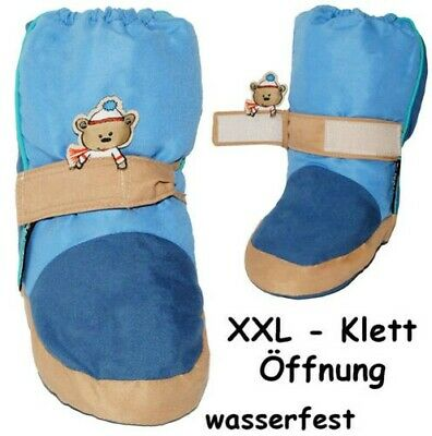 """Thermo - Shoe Covers/Learn-To-Walk Shoes - """" Teddy Bear - Blue """" - Sizes: 3 Mona"""