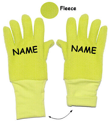 """Very Soft _ Fleece Gloves - """" Neon Green """" - Sizes: 3 to 5 Years"""
