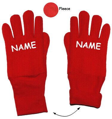 """Very Soft _ Fleece Gloves - """" Strong Red """" - Sizes: 3 to 5 Year"""