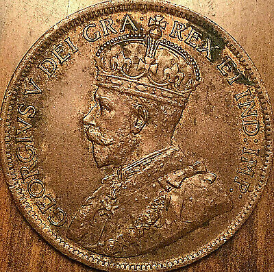 1917 CANADA LARGE CENT PENNY LARGE 1 CENT COIN - Excellent example!