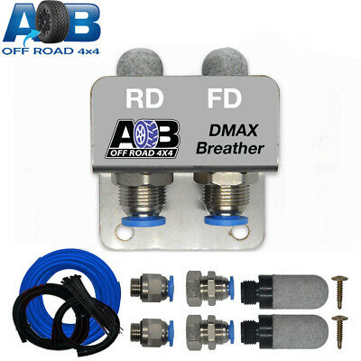 DIFF BREATHER KIT 2 PORT Universal for ISUZU DMAX AWD FWD Off Road Breather BLUE
