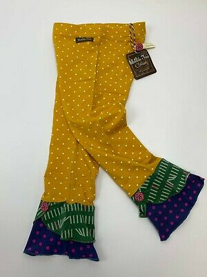 Matilda Jane Leggings Polka Dots Scrappy Button Friends Forever Size 6 - NEW