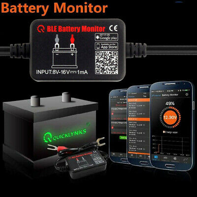 QUICKLYNKS Battery Monitor BM2  Bluetooth 4.0 Device Battery Tester Tool