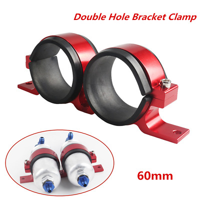 CNC Aluminum Dual Fuel Pump Clamp Mounting Bracket For 70mm to 55mm Oil Pump 1x
