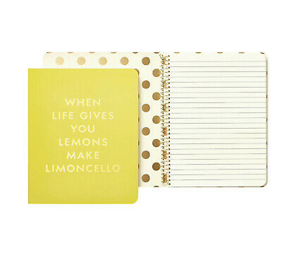 Kate Spade New York Spiral Notebook WHEN LIFE GIVES YOU 🍋 MAKE LEMONCELLO