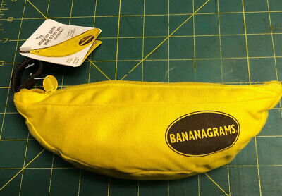 Bananagrams Tile Word Game New W/Tag Anagrams 144 Tiles Carry Bag Instructions