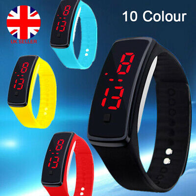 Children Kids Watches Boys Girls LED Digital Sport Watch Wrist Loop Child Gifts