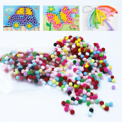 2000PCS/Lot Mini Pompoms Soft Pom Poms Fur Ball Sewing Craft DIY Kids Toys Decor