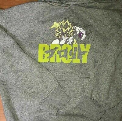 DRAGON BALL Z UNIQLO UT GRAY XS,S,M,L,XL HOODIE GOKU Master Roshi BROLY FRIEZA