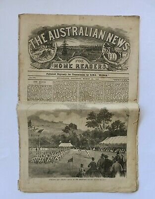 1866 March 24th Melbourne The Illustrated Australian News Published Expressly