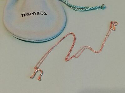 """Tiffany & Co. Elsa Peretti Letter """"N"""" Initial Sterling Silver 925 Necklace"""