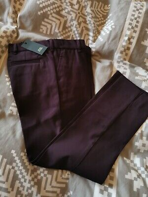 BNWT suit trousers in berry by RIVER ISLAND in size 7 years