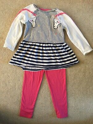 Tu Unicorn Top And Pink Leggings 3-4 Great Condition