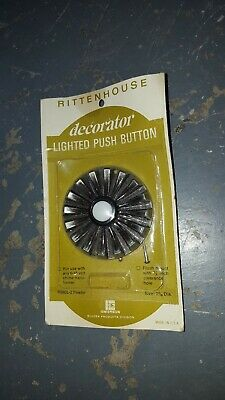 Vintage Rittenhouse Lighted Pushbutton Decorator 6-16 volt transformer pewter