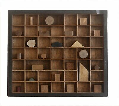Great Treen Solid Wood Wall Art in up cycled Vintage Letterpress Printers Drawer
