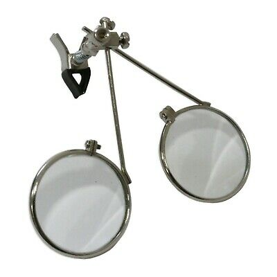 3.3x & 3.3x = 6.6x Clip On Double Lens Eyeloupe Eyeglass Magnifier Tool