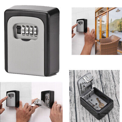 4 Digit Outdoor High Security Wall Mounted Key Storge Safe Box Code Secure Lock