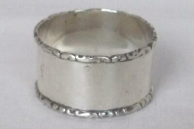 A Superb Antique Solid Sterling Silver Napkin Ring Birmingham 1919.