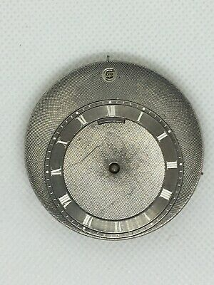 Very Rare! Antique Swiss Pocket Watch Movement DATE and Silver Dial Ultra Thin