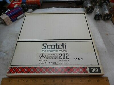 "NOS SEALED Scotch Magnetic Tape 202- 1/4 X 2500 ft. 10.5"" Reel DYNARANGE SERIES"